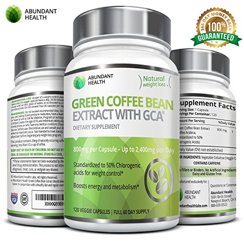 Abundant Health Green Coffee Bean Extract With Gca For Weight Control 120 Veggie Capsules